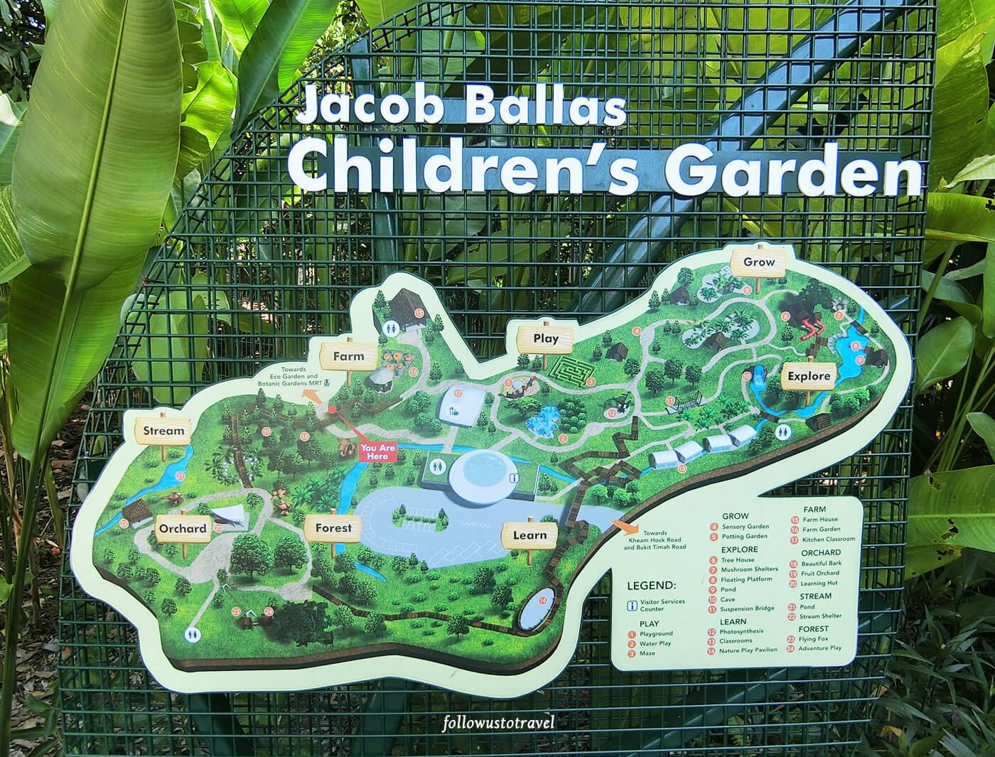 Jacob Ballas Childrens Garden Map