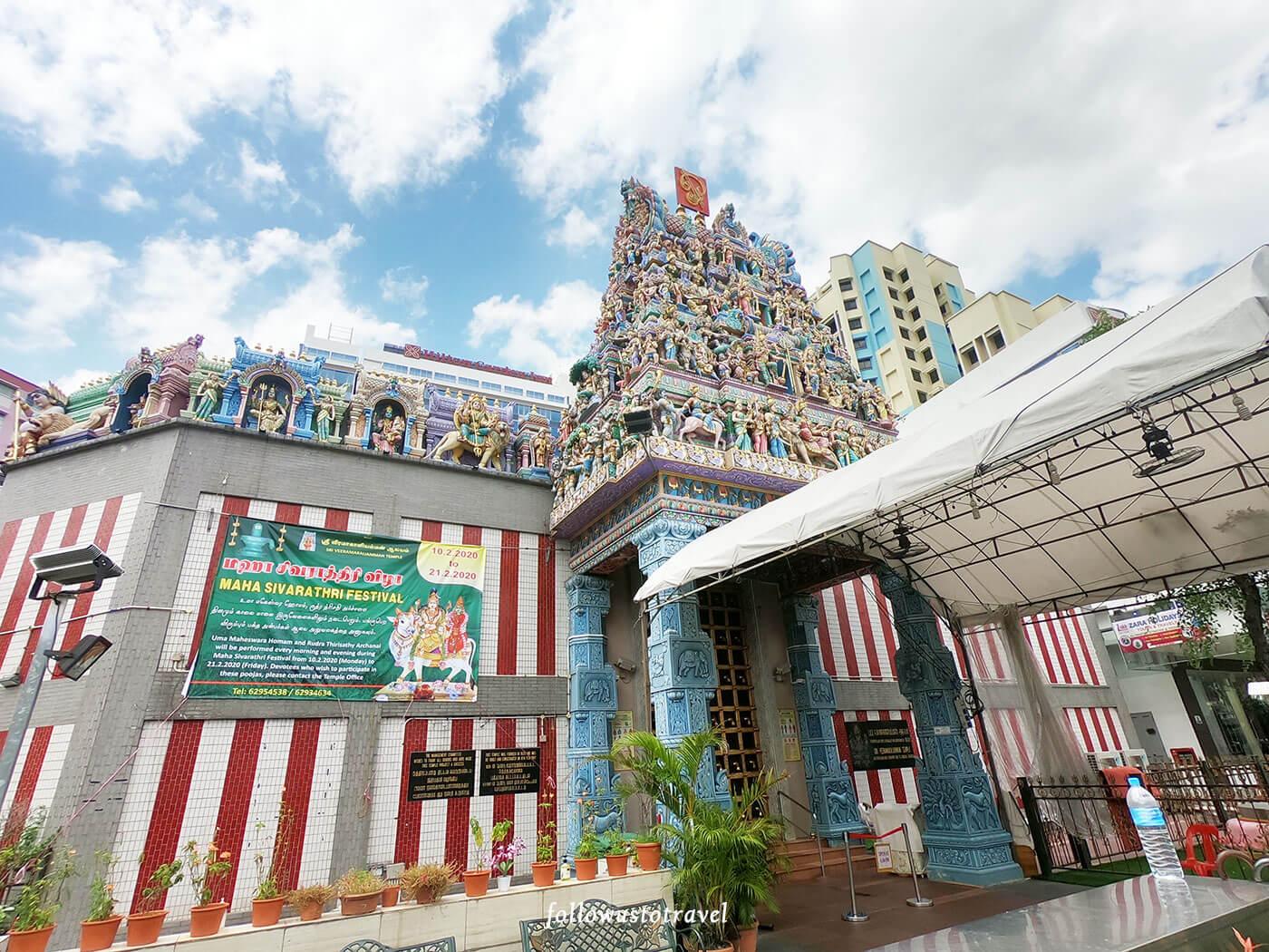 小印度第一座神庙维拉玛卡里雅曼兴都庙