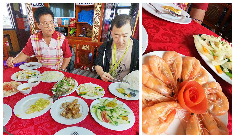 下龙湾午餐虾