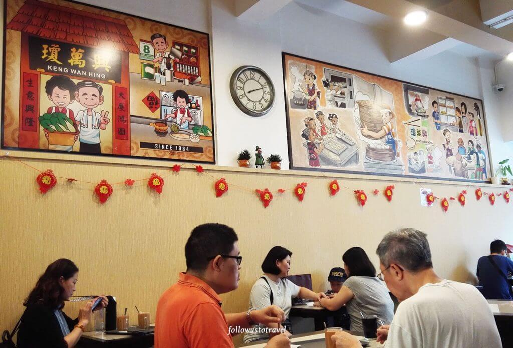 两幅琼万兴茶室日常活动的油画
