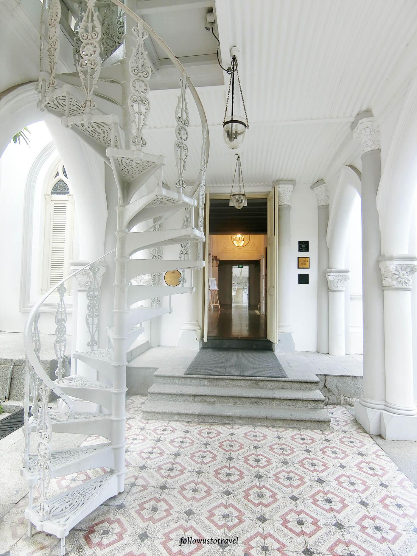 新加坡景点赞美教堂旋转楼梯