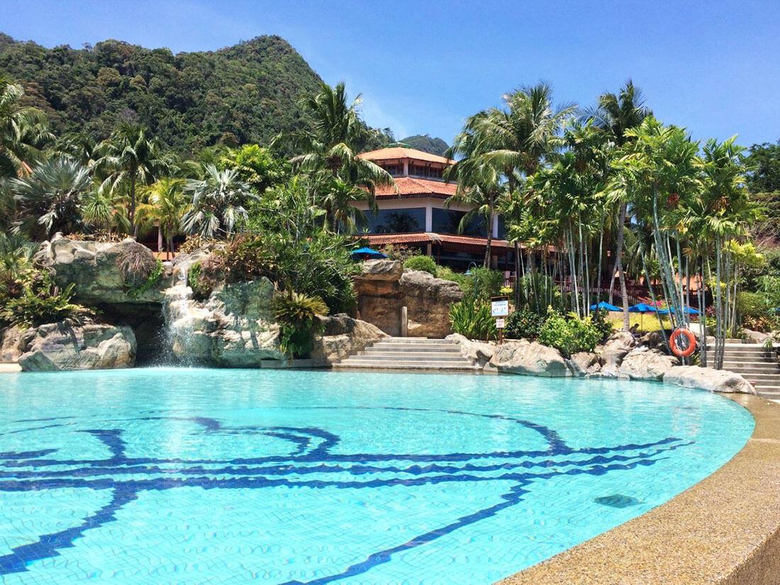 兰卡威饭店游泳池
