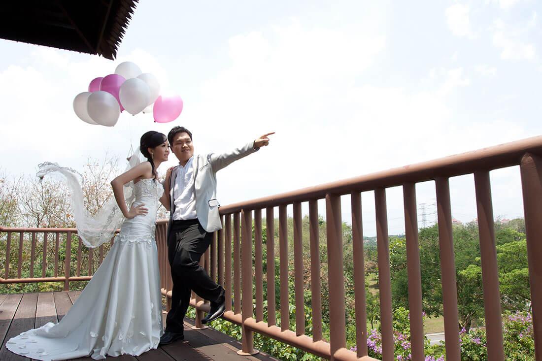 布城景点布城湿地公园婚纱拍摄观景台
