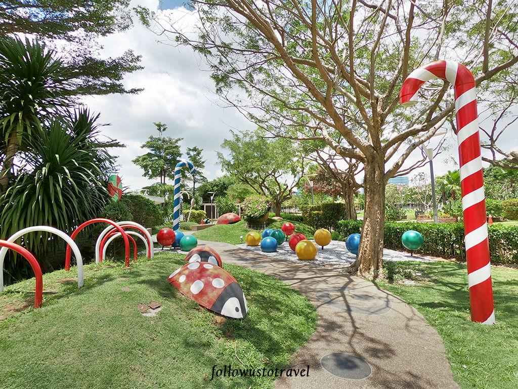 布城景点 fantasy garden